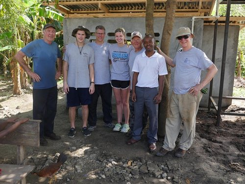 - The Turning Point Mission's Haiti team with Pastor Claye from the Village of Fosse Capoise. This filter building is one of three new systems constructed in March of 2017.  It serves a village of 1000 people plus a grade school and church.