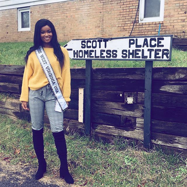 Thank you to Eric from Scott's Place Homeless Shelter for having me sit down and talk to people about their struggles and hardships. I also opened up to share my struggles and what I was able to do to overcome those struggles in hopes they can take my example and apply it to their journey. #misswestvirginiausa #roadtomissusa #pageantassociates #missusa #allthewaywithholloway #roadtothecrown