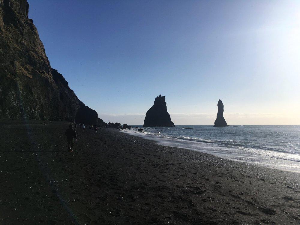 Reynisfjara (Black Sand Beach), 63.4051° N, 19.0561° W