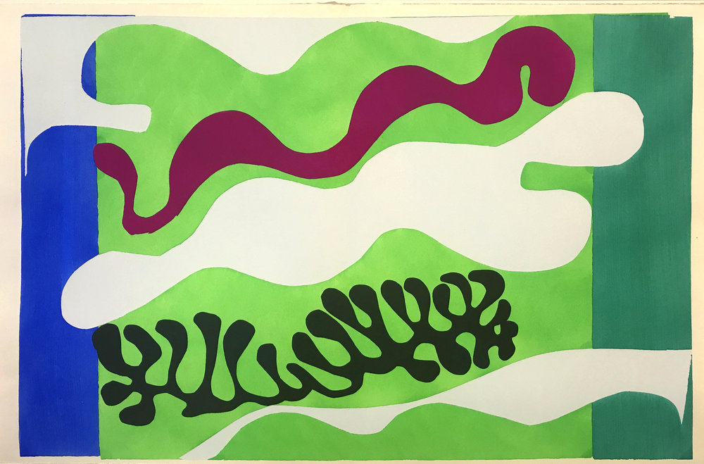 Henri Matisse, 'The Lagoon', Plate XVIII from 'Jazz', 1947, Paper Cut-Out  | ©   rocor/Flickr   |   Creative Commons Licence CC BY-NC 2.0