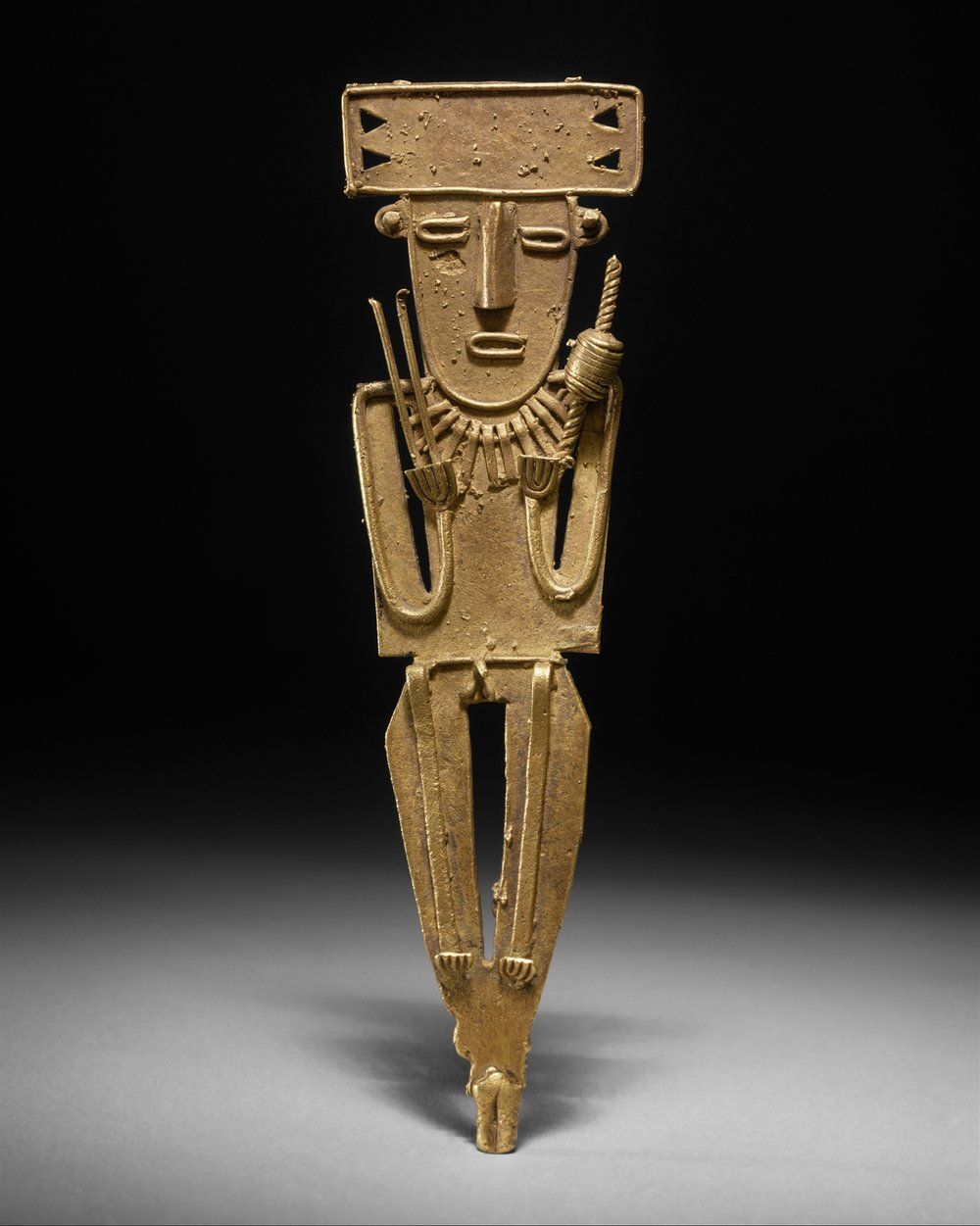 Muisca Male Figure (Tunjo), 10th - mid-16th Century, Gold  |  ©  The Met Museum   |  Creative Commons Licence CC0 1.0