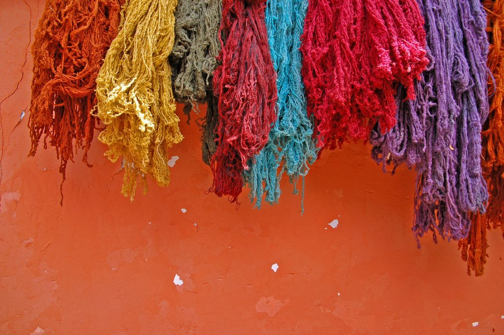 The image in my mind as I was painting - I hope I did this colour palette justice  |  'Drying Wool' |  ©  chany crystal/Flickr   |   Creative Commons Licence CC BY-ND 2.0
