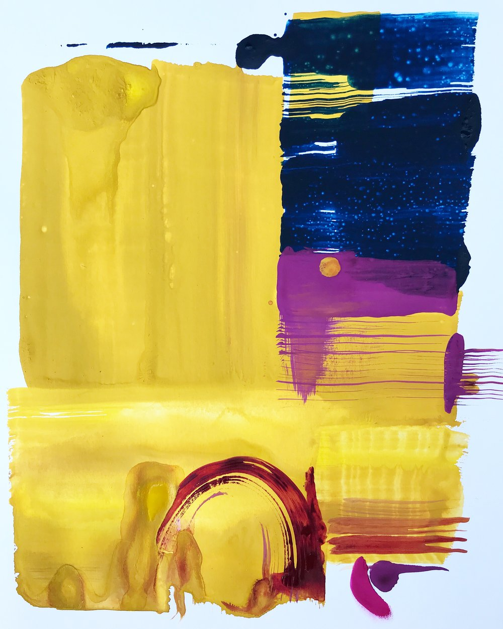 'Cusco',Gouache & Watercolour on Paper,16.5 x 23.4 in