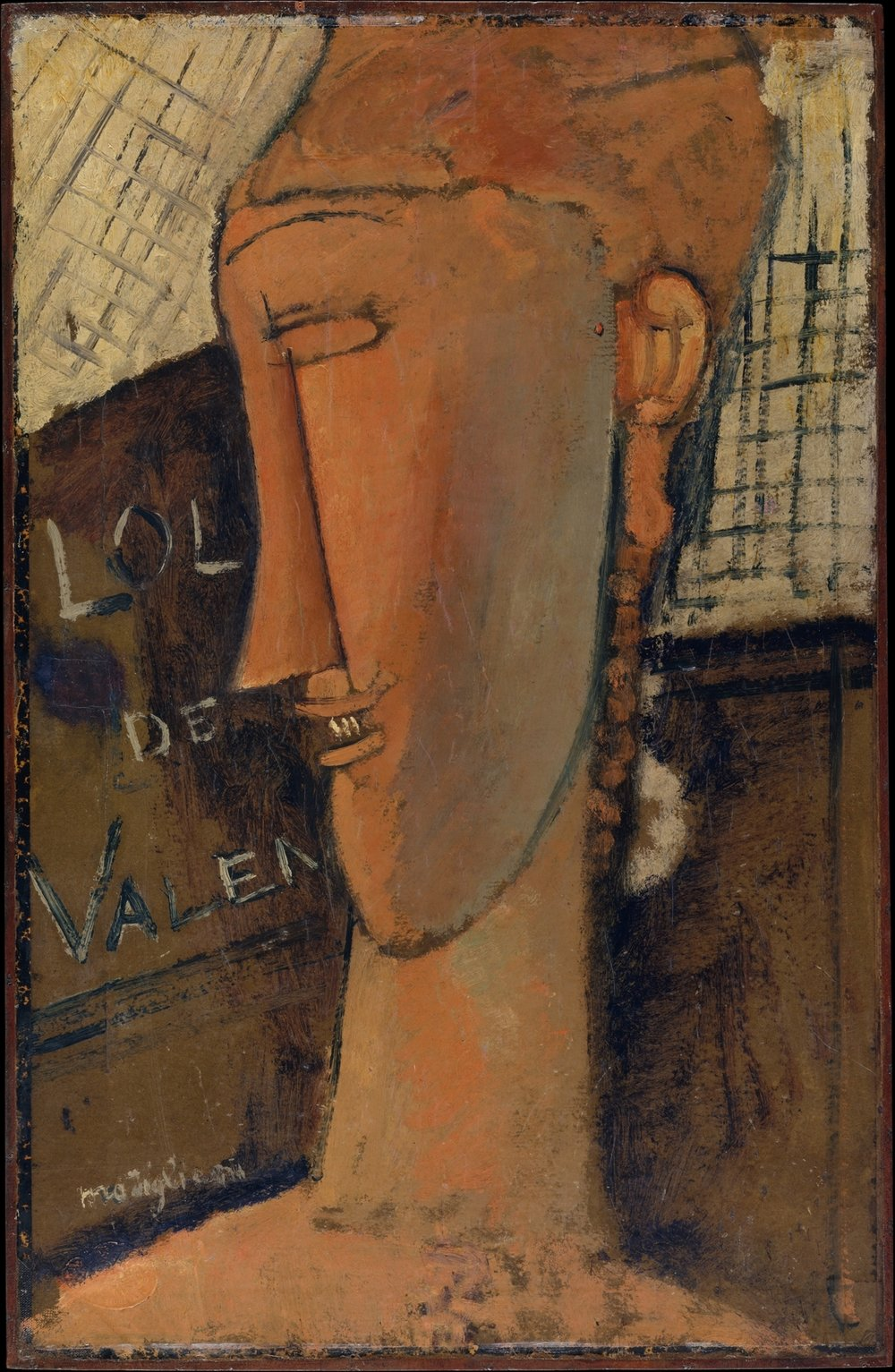 'Lola de Valence' Amedeo Modigliani (Italian, Livorno 1884–1920 Paris), Lola de Valence, 1915, Oil on Paper, Mounted on Wood  | ©   The Met Museum     |   Creative Commons Licence CC0 1.0