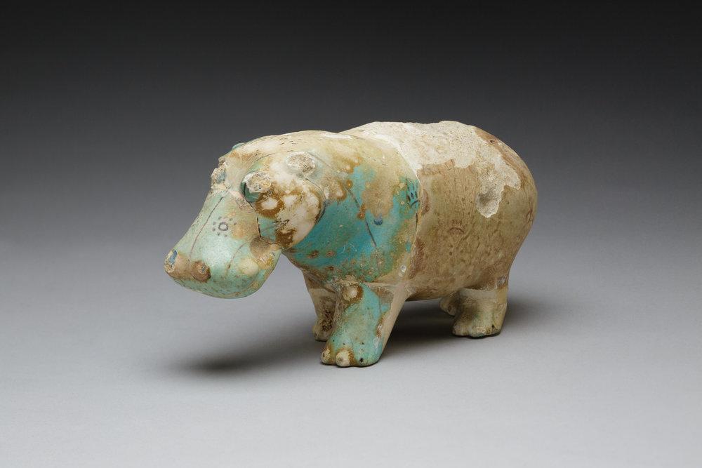 Hippopotamus, 1981 - 1650 BC, Faience  | ©   The Met Museum   |   Creative Commons Licence CC0 1.0