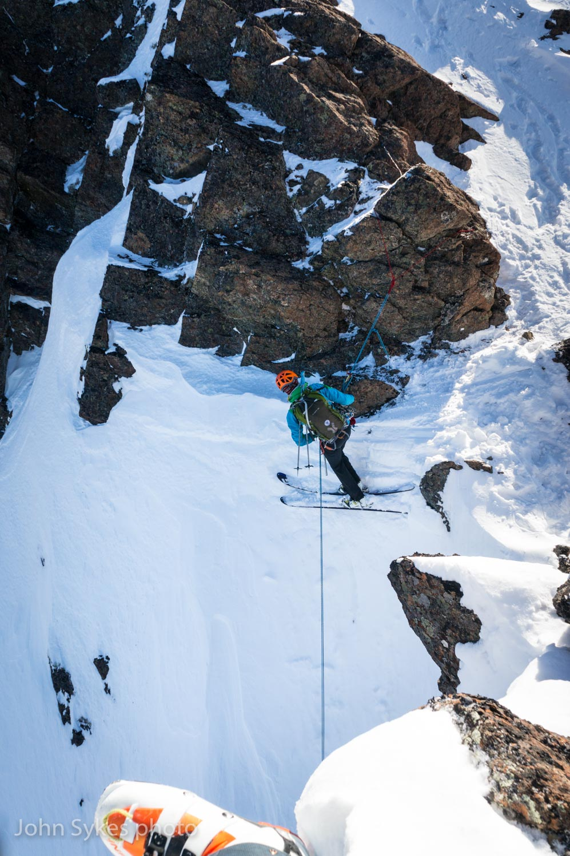 Joe in the Chugach Mountains. Photo by John Sykes.
