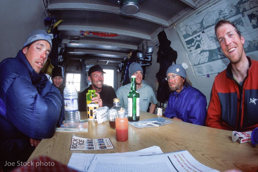 Eli Helmuth, Mark Kelly and Dylan at the Scandinavian Peaks Hut.
