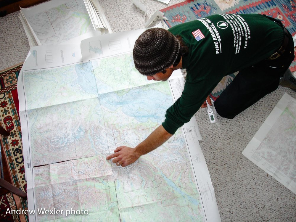 Derek Nelson gave us some info, then we hit the maps.