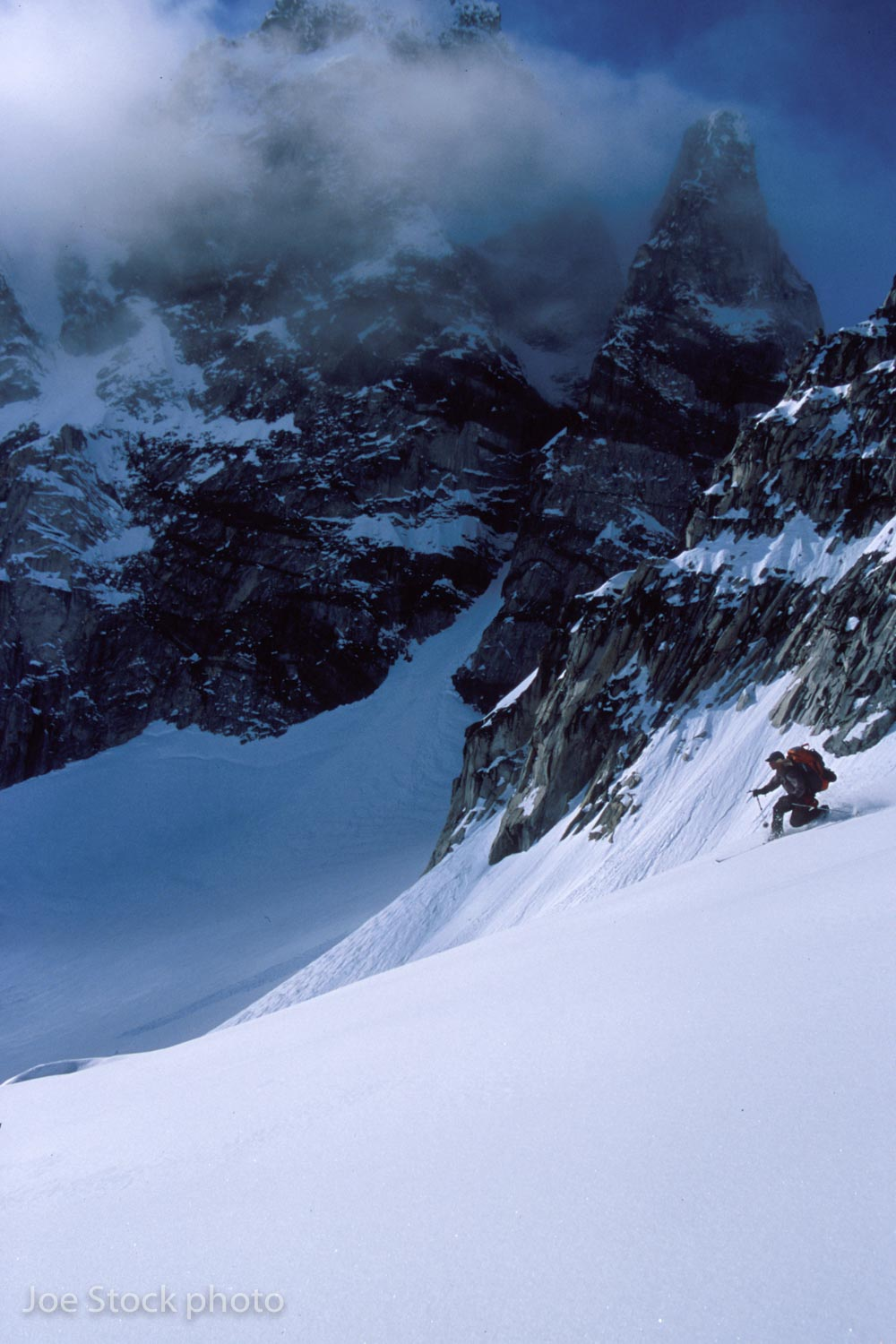 We had some great powder skiing along the route though.