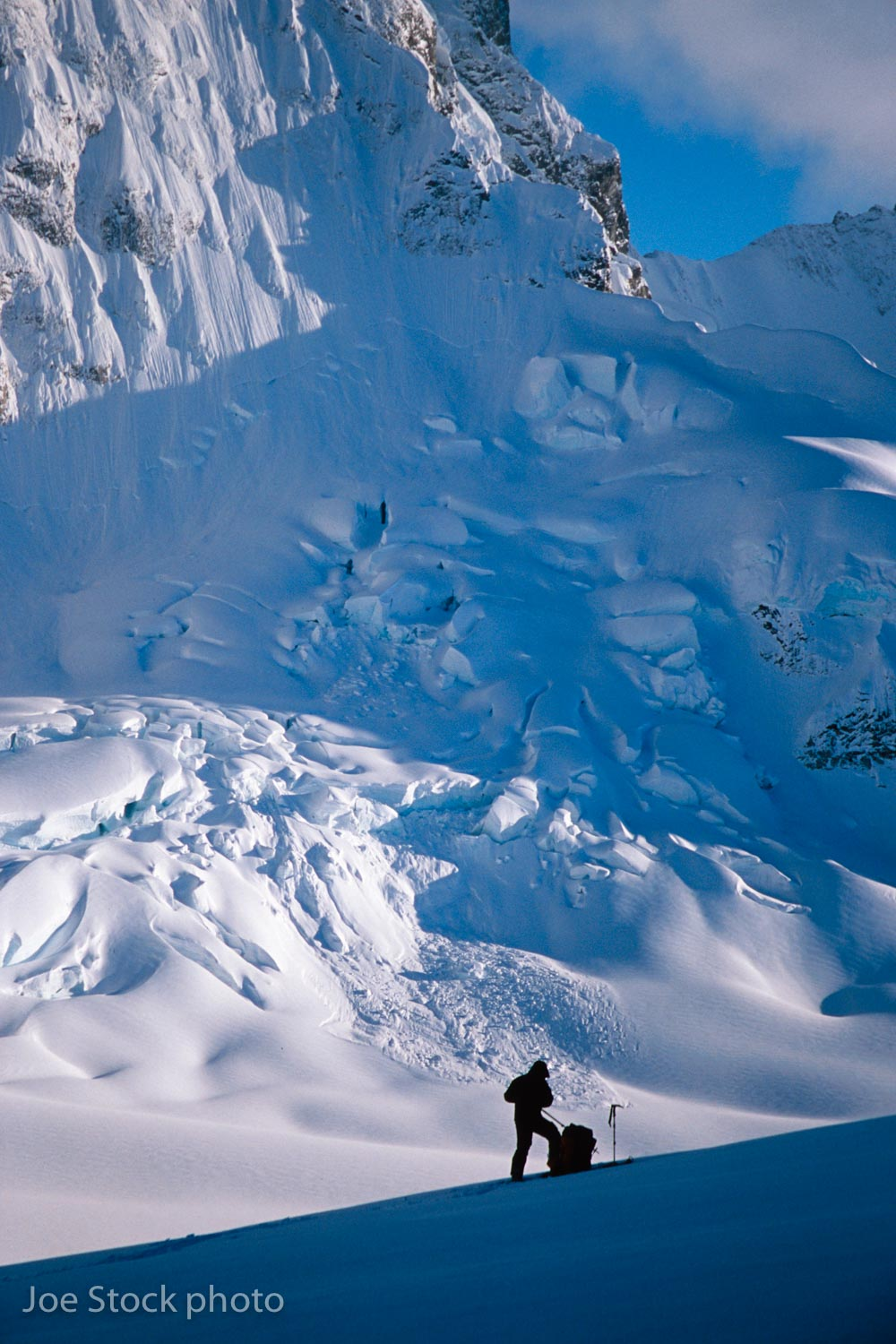 We shifted base camp to the North Fork Glacier.