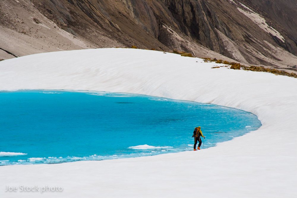 Traversing the Hayes Glacier.