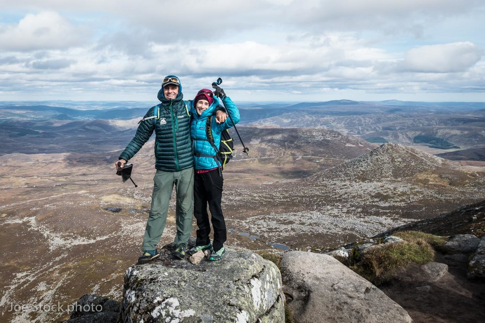 Our first Munro! Scotland has 227 summits over 3,000 feet called Munros. Lochnagar is 3,789 feet tall and is the twentieth Munro. Lochnagar is in the Cairgorm Mountains in eastern Scotland, in the rain shadow of the mountains around Ben Nevis.