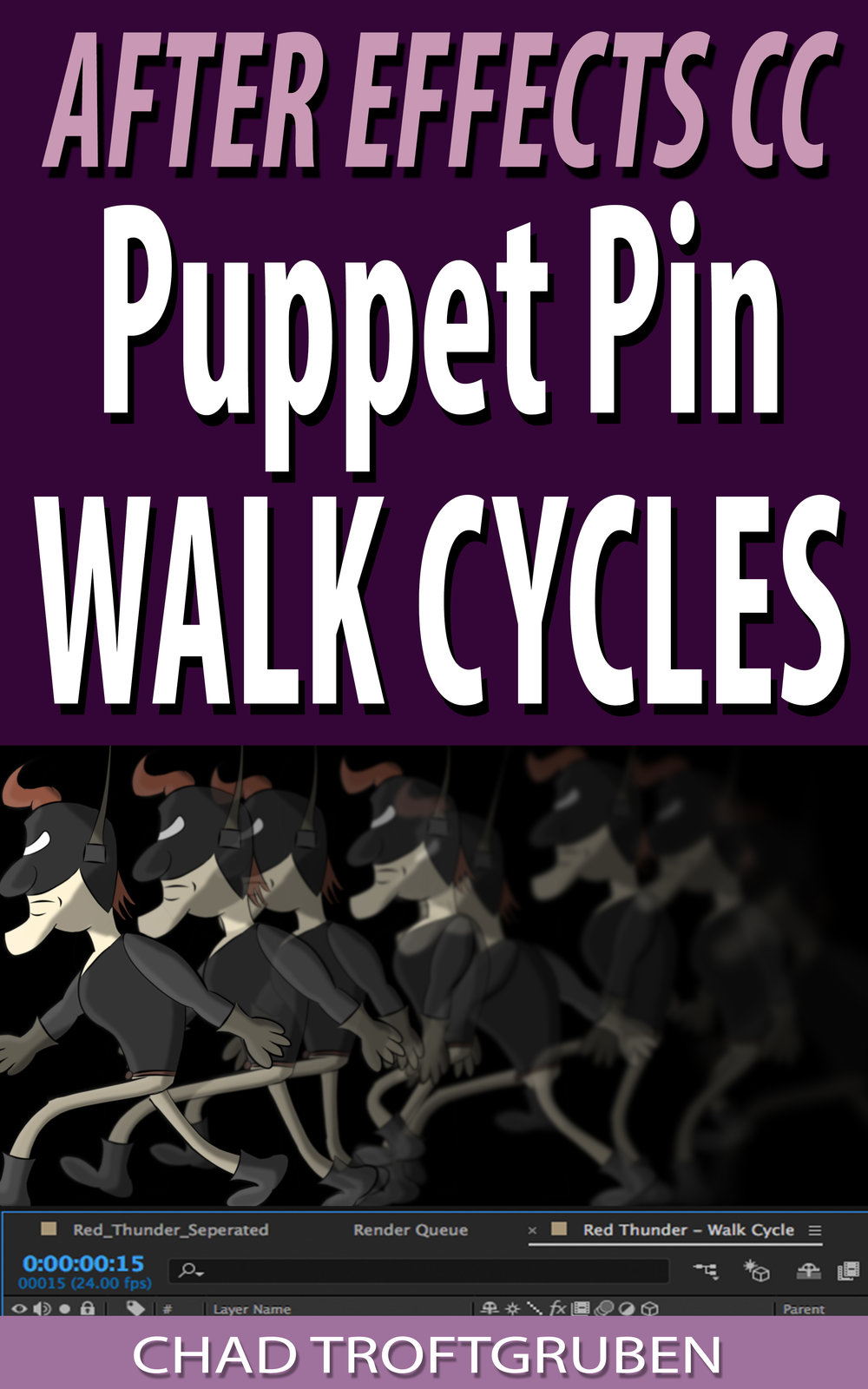 After Effects CC Puppet Pin Walk Cycles Cover