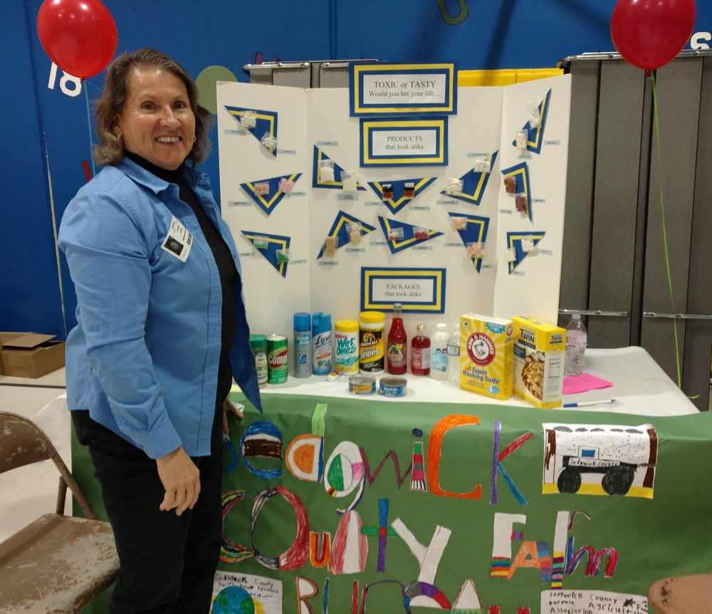 Donna at the Franklin Health Fair