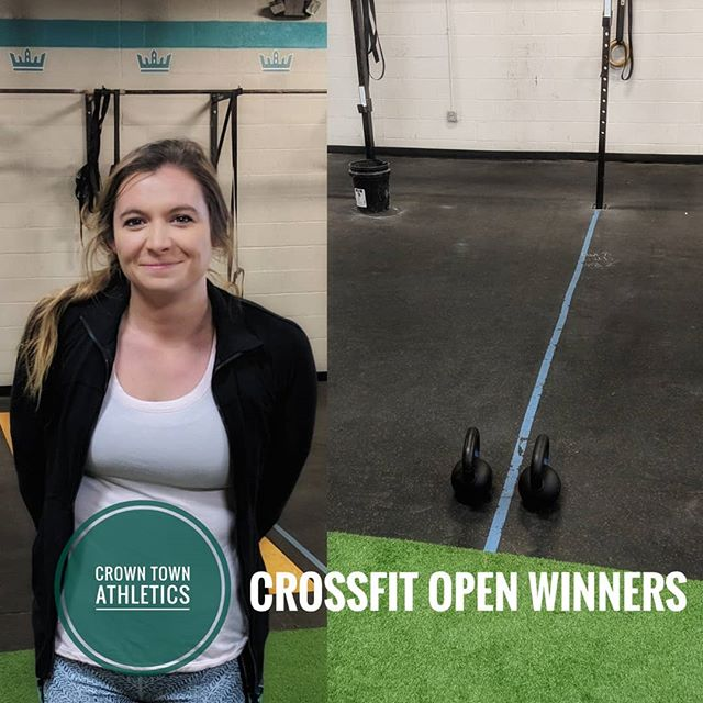 The Crown Town Athletics winners of the 2019 CrossFit Open are @brianne.alyse and Tom Patch. Here is Bri giving her most intimidating look and Tom preparing to do some kettlebell swings during his class. . . . #charlotte #charlottefitness #plazamidwood #elizabeth #uptown #clt #crossfitopen #crossfit #fitness #fitspo