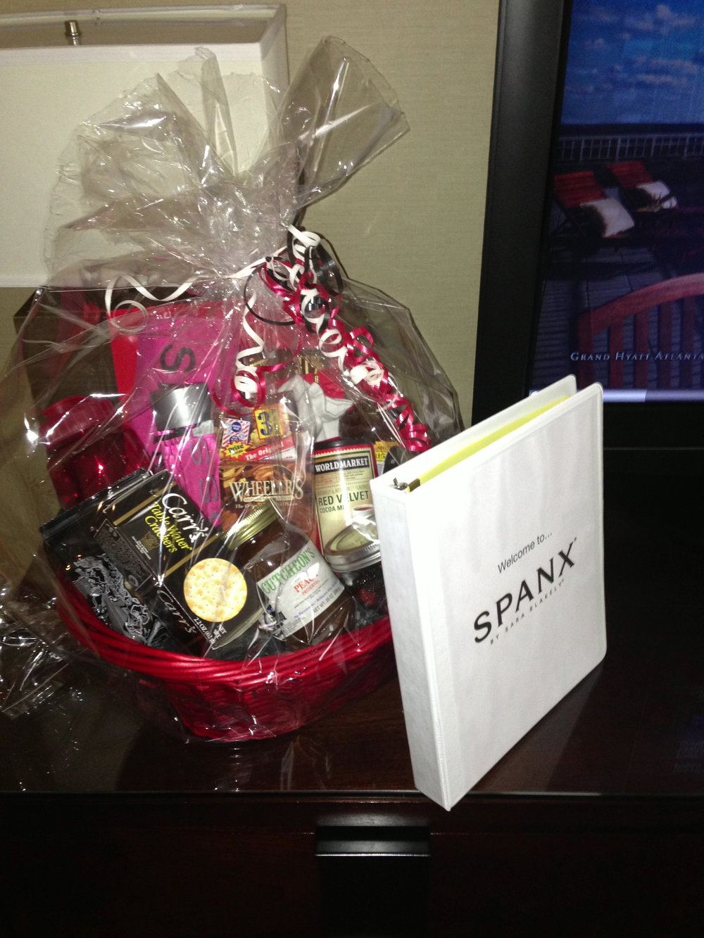 My welcome from SPANX in Atlanta