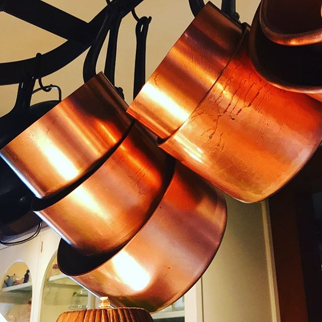 My favorite pots. #copper #kitchen