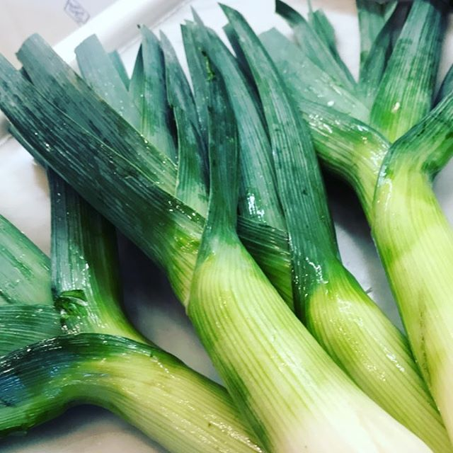 I'm happiest in the kitchen cooking. #leek #dinner