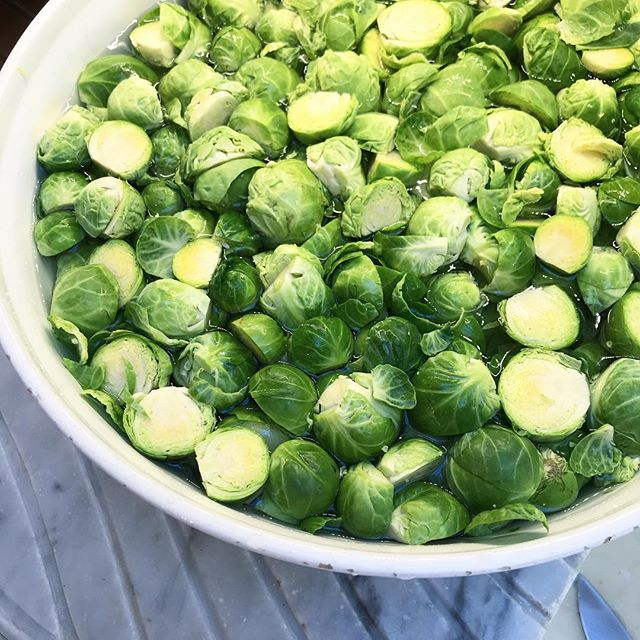 My job. #brusselsprouts #thanksgiving