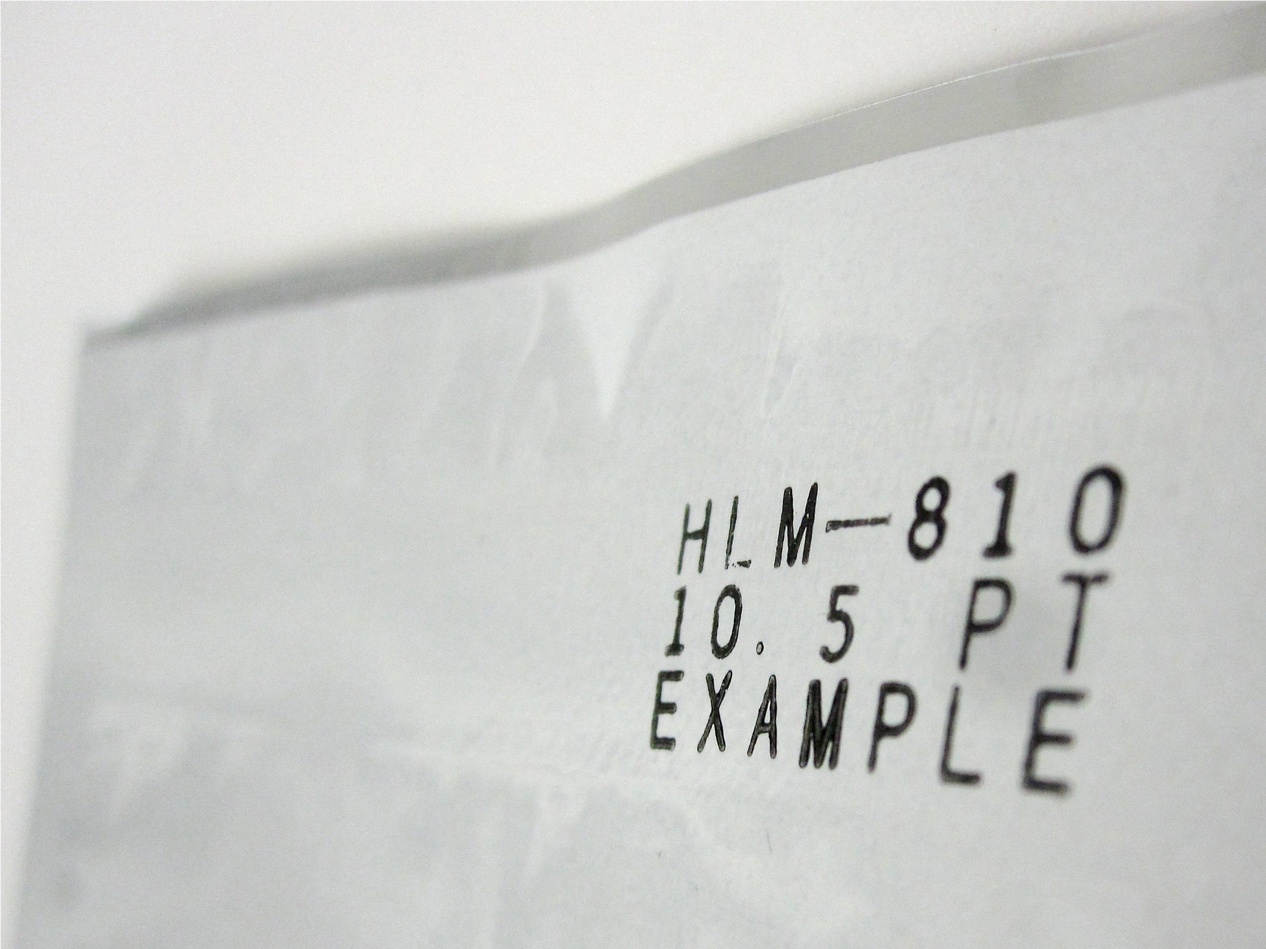 Dry Ink Coding Example - 10.5PT