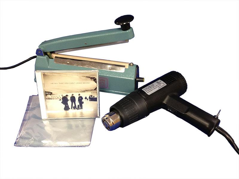 "8"" Hand Sealer w/ CD Shrink Bags"