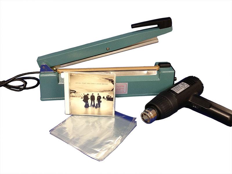 "12"" Hand Sealer w/ CD Shrink Bags"