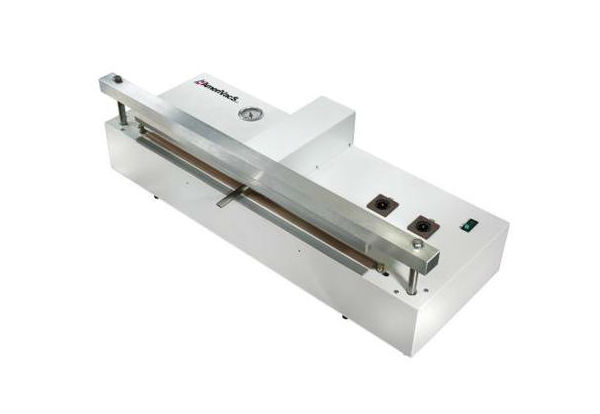 Nozzle Vacuum Sealers - In an external vacuum sealer, your product remains outside of the vacuum sealer; a nozzle draws air out of the bag and retracts so the bag can be sealed.