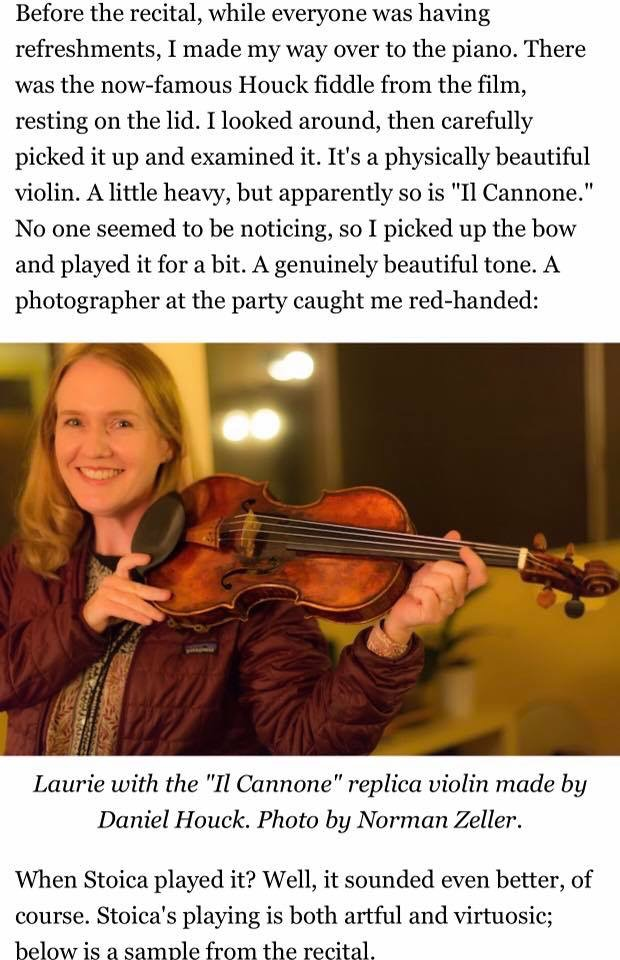 Laurie Niles writes about Strad Style the movie on Violinist.com