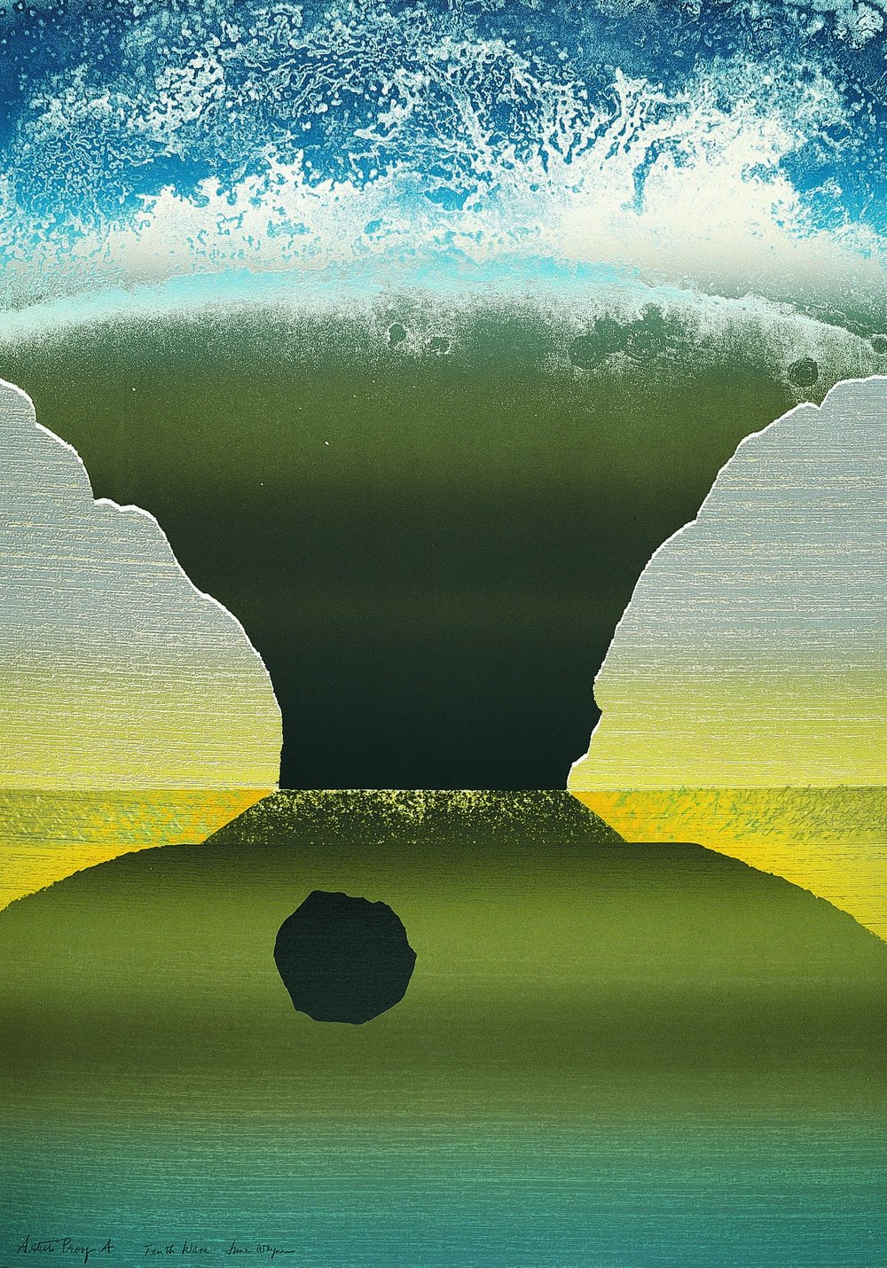 Tenth Wave, a lithograph by June Wayne