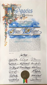 June Wayne Honored in Los Angeles