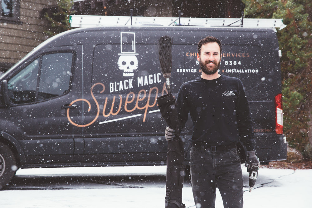Black Magic Sweeps, Bellingham Wa best chimney sweep. Fireplace services, repairs & installation