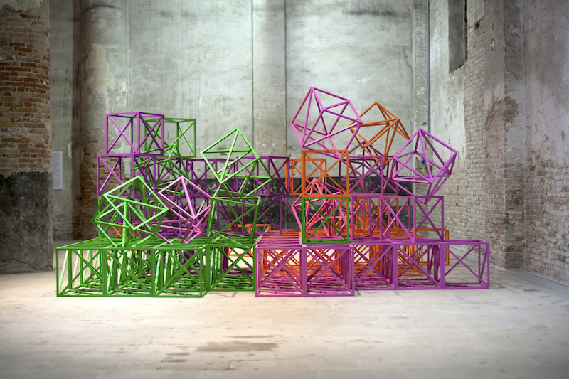"""Pavilion of the Common, installation by Rasheed Araeen"", Photo: Italo Rondinella. Courtesy: La Biennale di Venezia, [available]chromart.org."