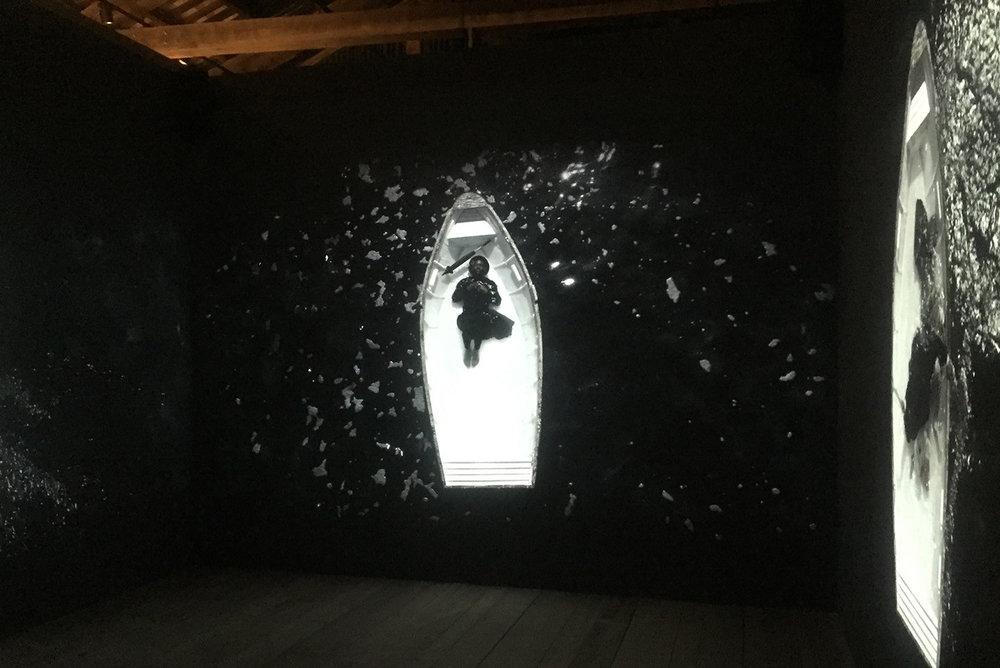 Mohau Modisakeng at South Africa Pavilion, Venice Biennale, 2017 Courtesy: South Africa Pavilion, [available] moussemagazine.it