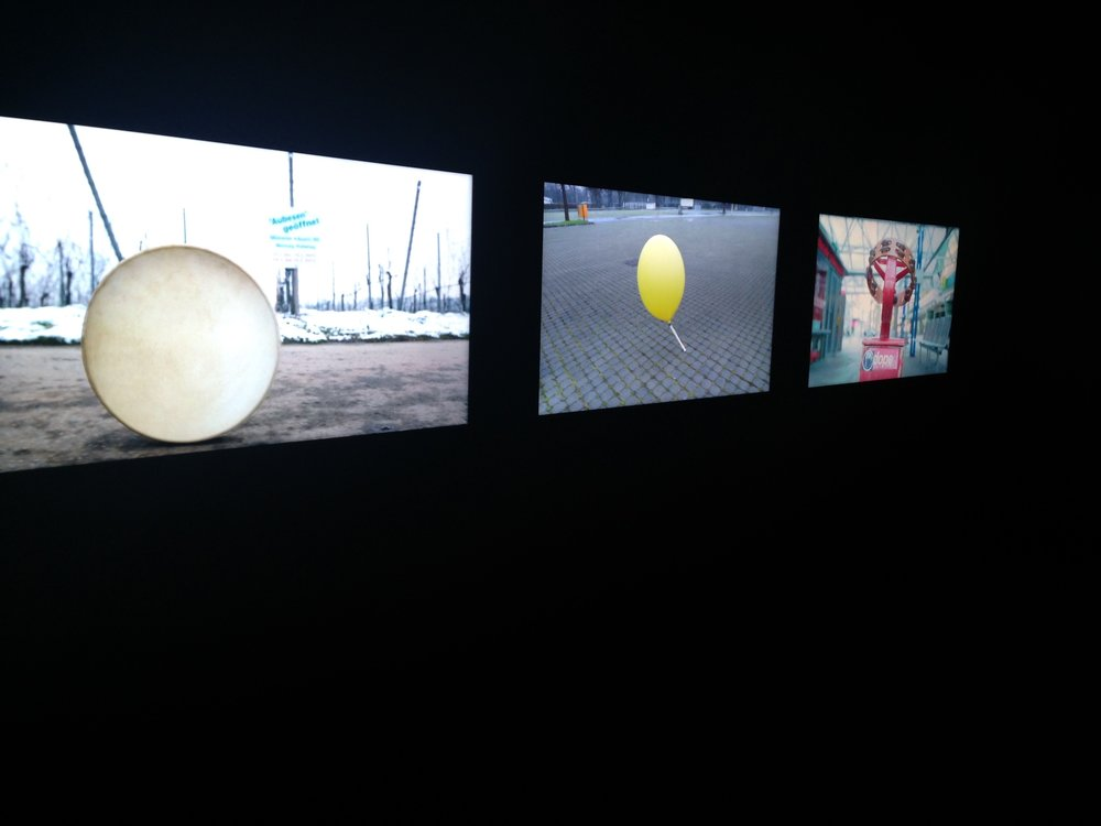 """Nevin Aladag (Turkey/Germany), """"Traces"""", 3-channel HD video installation, color/sound 6'03"""".Photo credits: Anna Gargarian."""