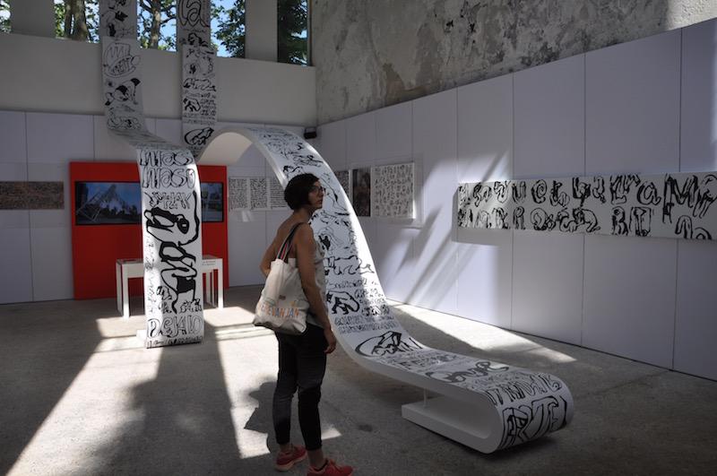 """""""Formas Escapandose del Marco by Juan Calzadilla"""" Venezuelan pavilion, Venice Biennale 2017, photocredits: Anna Gargarian."""