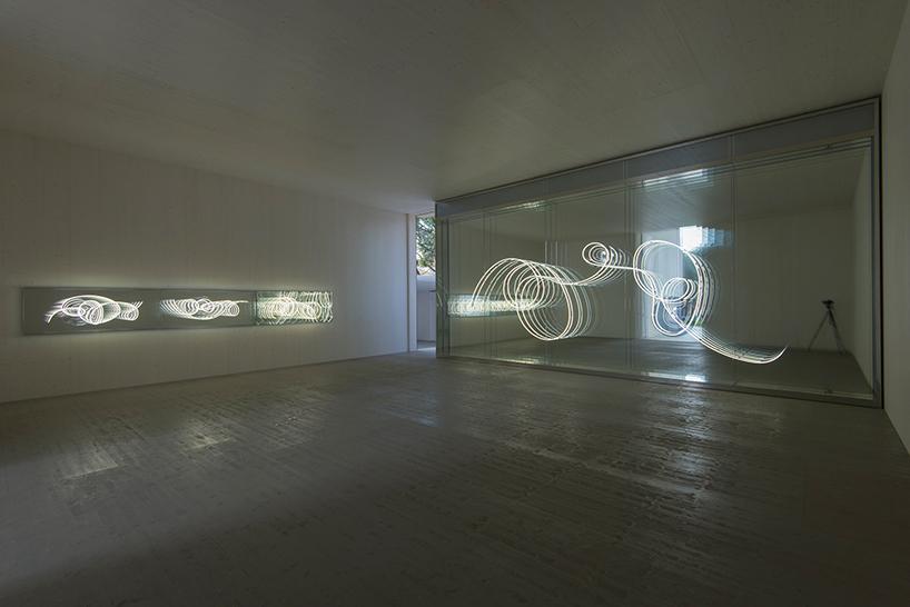 Neon Installation by Brigitte Kowanz at the Austrian Pavilion, Venice Biennale 2017. Photo by tobias pilz © bildrecht, vienna 2017