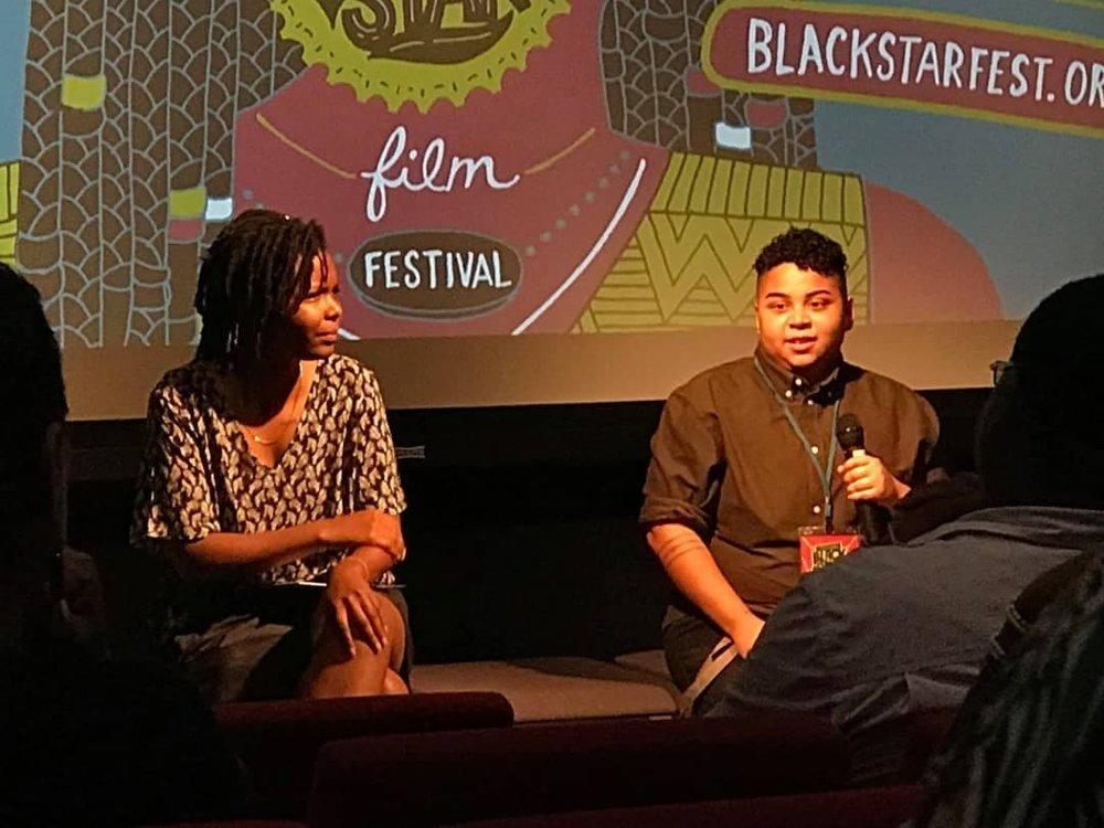 - Byrd at the Q&A following screening Season 1 at the BlackStar Film Festival 2018.