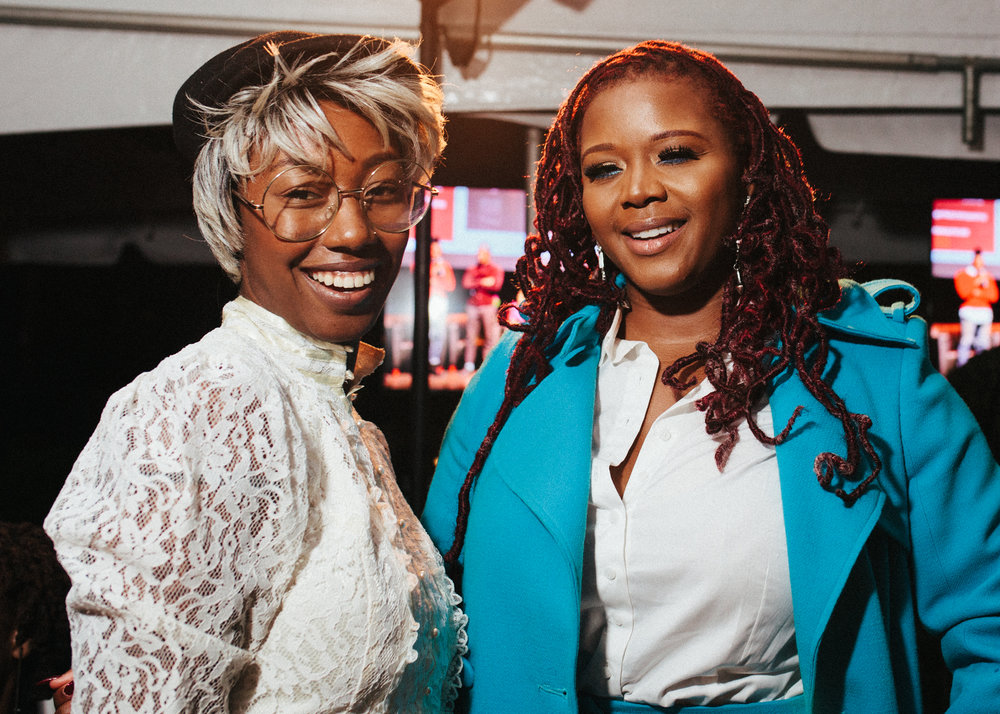 MelaninASS CEO, Dominique Drakeford & Fashion Bomb Daily's founder Claire Sulmers