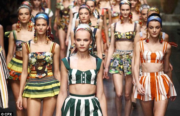 2013 Dolce runway show with no diversity