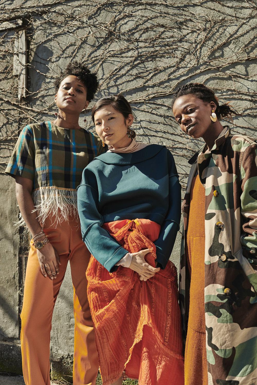 Janine Hausif, Terumi Murao, Ibada Wadud  (left to right)