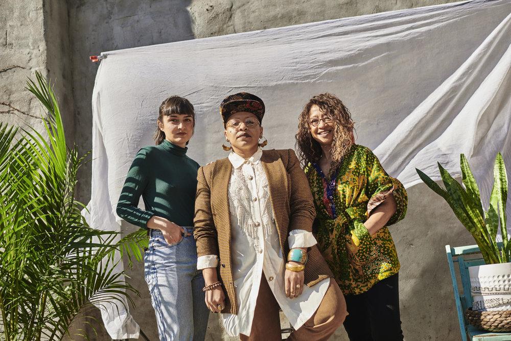 Reza Cristián, DeVonne Jackson, Tess Tiaba  (left to right)