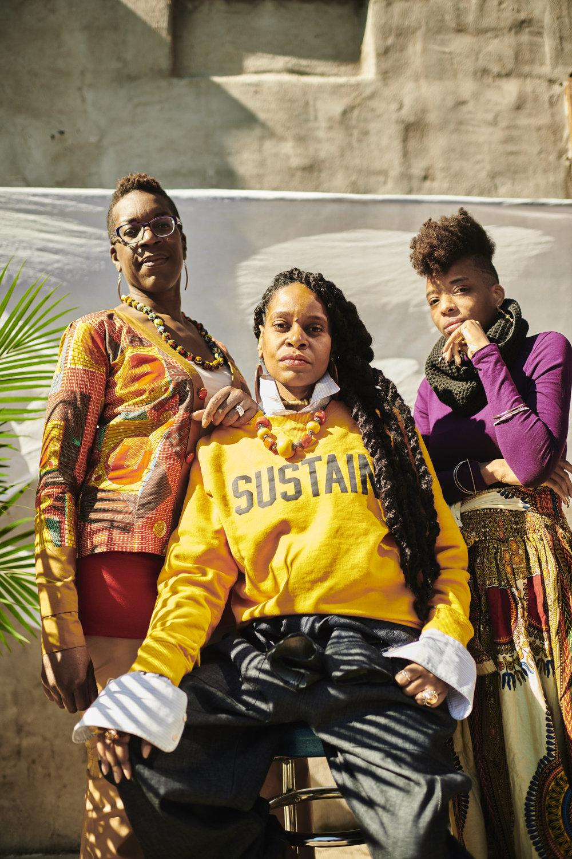Ngozi Okaro, Miko Underwood, Nay Marie  (left to right)     Photos by Timothy Smith