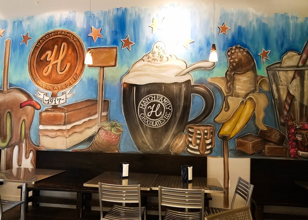 Hatch Family Chocolates Mural