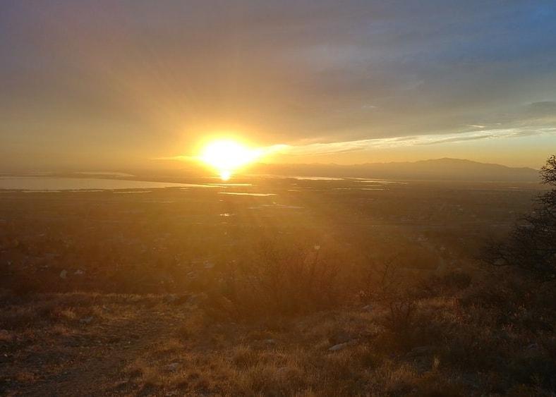 Sun Setting over Farmington Utah