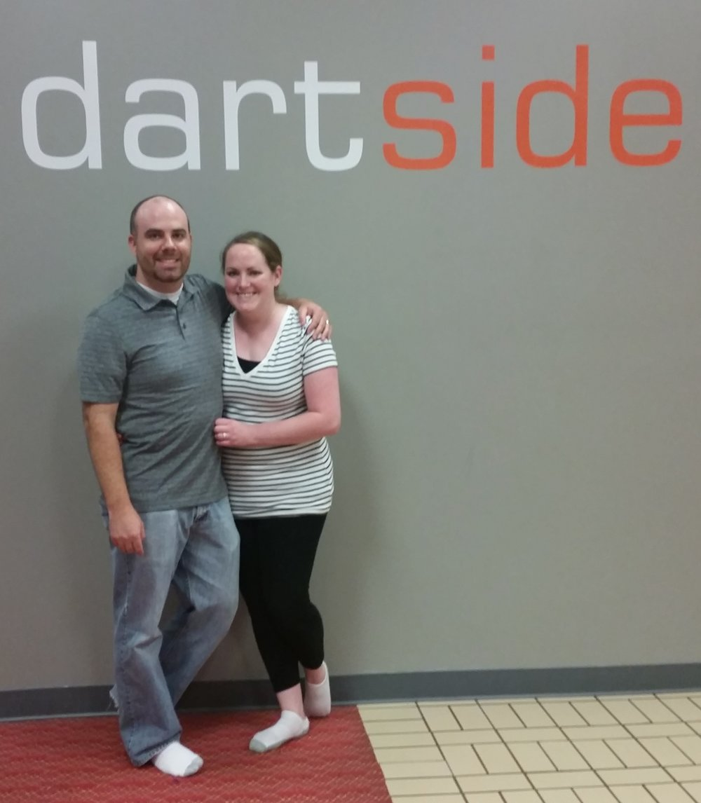 date night at Dartside in Layton, UT