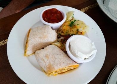 Little America breakfast burrito