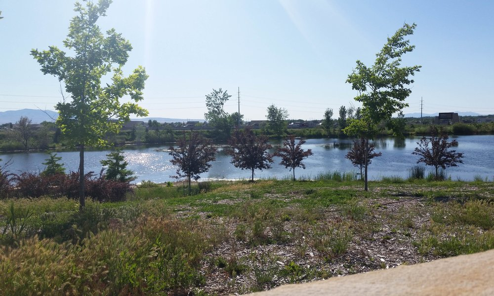 USU Botanical Gardens - view from parking lot