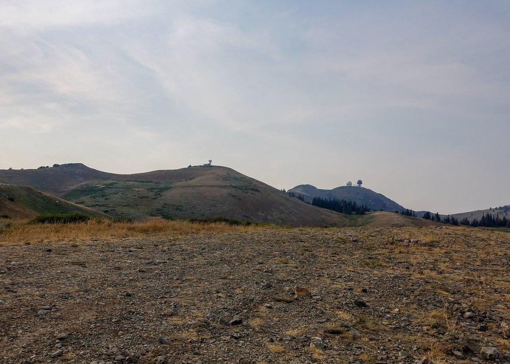 radar towers at Francis Peak