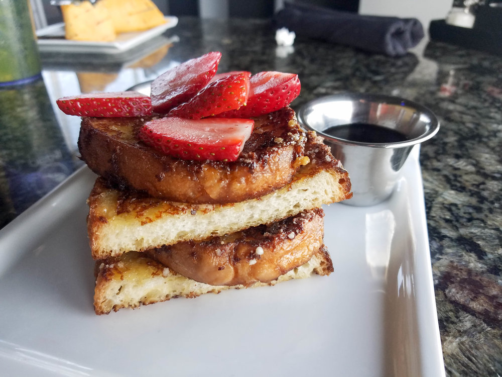 Top Golf Bruleed French Toast