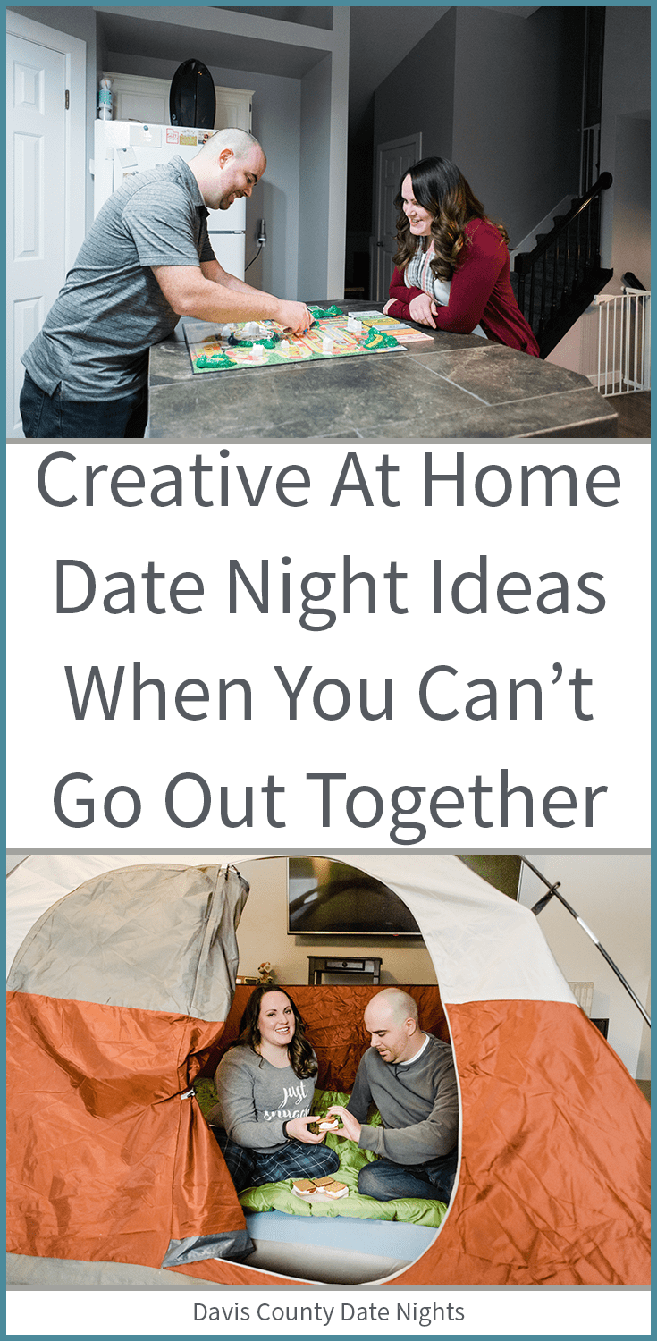 At home date night ideas for parents of young kids.